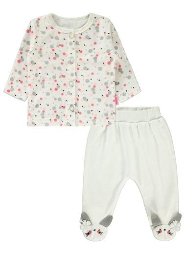 Civil Baby Kız Bebek Pijama Takımı Ekru